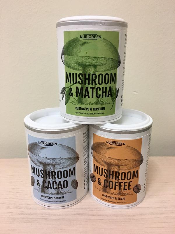 Nurigreen Mushroom Coffee Pilz Kaffee Matcha Kakao